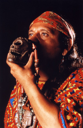 Xavier Quijas Yxayotl has dedicated himself to bringing traditional rhythms and ancient instruments back to life, all intertwined in the sacred ways of indigenous Mexico. He is a seven-time nominee for the Native American Music Awards (photo courtesy of Kenosis Spirit Keepers).