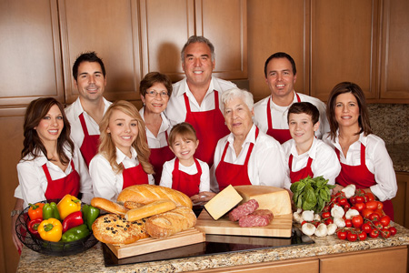 Fours generations of Spinato family members take part in running the successful Italian eatery business in the Valley, including, from left: front row, Jaime Spinato, Taylor Kienlen, Kennedy Kienlen, Gloria Spinato, Cole Spinato-Kienlen, and Nicole Spinato-Kienlen; back row, Anthony Spinato, Elaine Spinato, Ken Spinato, and Chris Kienlen (submitted photo).