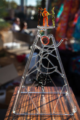 Valley artist John Ryszka of Glass Phoenix will exhibit some of his creative art sculptures at this month's Sunnyslope Art Walk (submitted photo).