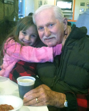 John Murphy Jr. with his great-granddaughter, Lily Smithson (photo courtesy of the Murphy family).