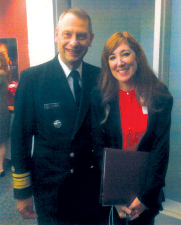North Central resident and melanoma survivor Sharon McKenna recently was recognized by U.S. Surgeon General Boris D. Lushniak for her advocacy in the Arizona SunWise Skin Cancer Prevention Program (submitted photo).