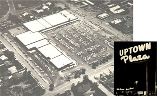 When it first opened in September 1955, the Uptown Plaza, located at the corner of Central Avenue and Camelback Road, was the first suburban shopping center in Phoenix and included then cutting-edge amenities such as 650 complimentary on-site parking spaces and neon-lit, cursive-style signage above each store that stayed lit until 11 p.m. nightly (submitted photo).