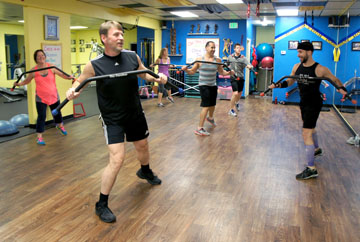 One of the hottest new trends in exercise is Core Bar from Norway, which is being taught twice a week at Fit'N Lean studio on 16th Street just north of Bethany Home Road (photo by Teri Carnicelli).