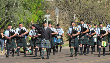 Bagpipers, floats, marching bands, Irish clubs and more will fill the streets of downtown Phoenix on March 14 as part of the 32nd Annual St. Patrick's Day Parade (submitted photo).
