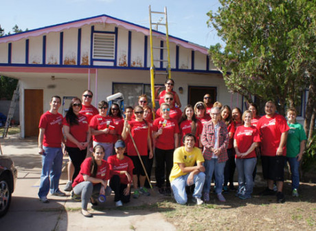 A team of volunteers from Wells Fargo, Rebuilding Together and AmeriCorps spent a weekend in April prepping, then painting, the exterior of the 1963 home belonging to Phyllis, who is the origisnal owner of the Sunnyslope home (photo by Teri Carnicelli).