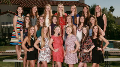 More than 20 high school seniors from the North Central area, representing both public and private schools, have accepted The Board of Visitors' invitation to serve as Flower Girls for the 2015-16 season (photo courtesy of The Board of Visitors).