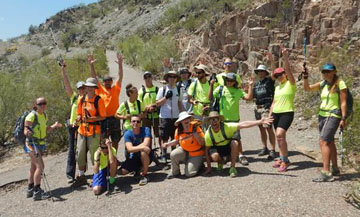 Enjoying the challenge of the Grand Canyon and its mighty Colorado River are teenagers and their guides from the Foundation for Blind Children, based in North Central Phoenix (photo courtesy of the Foundation for Blind Children).