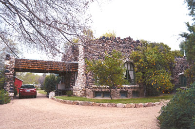 """The Frank and Sarah Hilgeman House, also known as the """"Rock House"""" because of its unique construction, could receive a Historic Preservation zoning overlay before the end of the year (photo courtesy of the city of Phoenix)."""