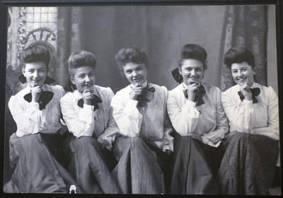 Harvey Girls in a row, undated, courtesy of Northern Arizona University Cline Library (submitted photo).