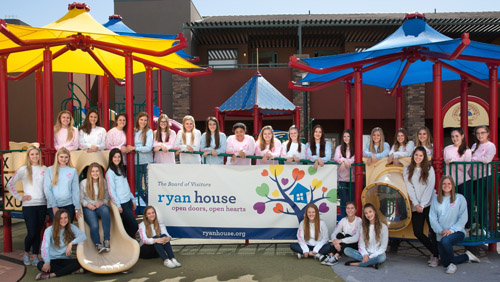 The Board of Visitors Flower Girls recently paid a visit to Ryan House, where they learned about Ryan Cottor, the inspiration behind this nonprofit organization that provides care and comfort to children with life-altering and life-ending illnesses (submitted photo).