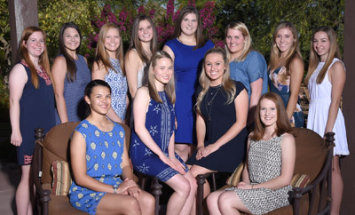 Thirteen young women from the North Central community are among the 48 high school seniors recently invited to serve as 2017 Flower Girls for the Board of Visitors (submitted photo).