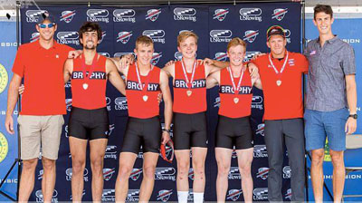 Brophy Crew's heavyweight quad recently was named the third-fastest in the nation after competing in the U.S. Rowing Youth National Championships in Princeton, N.J., in June (submitted photo).