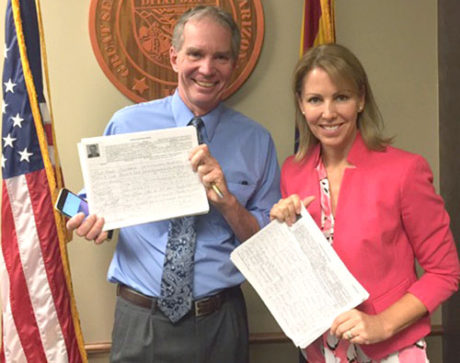 Dr. Eric Meyer and Kelli Butler each filed more than 1,200 signatures with the Secretary of State's Office, nearly three times as many signatures as the minimum needed to qualify for the ballot as legislative candidates for District 28 (submitted photo).