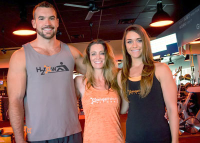 The new Orangetheory Camelback Colonnade team includes, from left: General Sales Manager Jesse Milleson, Owner Bobbe Ariano, and Jonell DeVencenty, Operations manager (submitted photo).